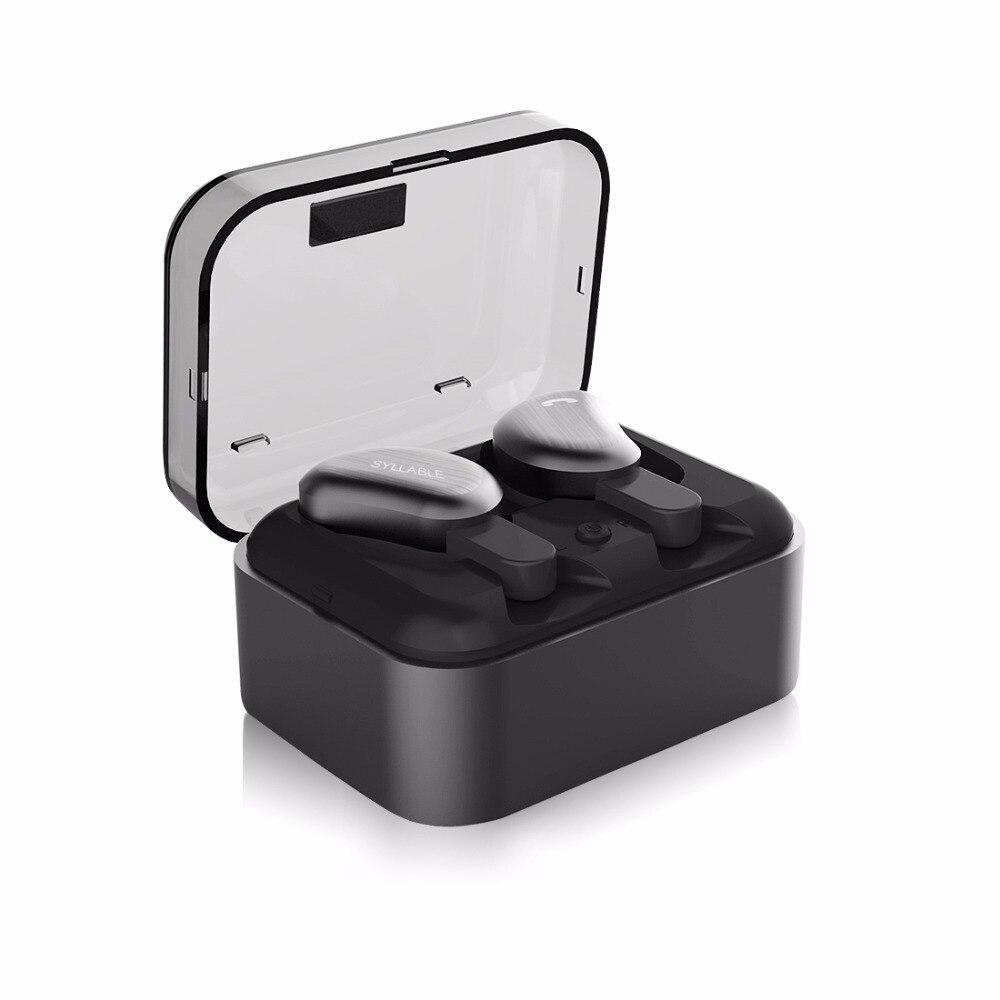 New SYLLABLE D9 Twins Bluetooth Earphone True Wireless Stereo Earbud Sweatproof Wireless Sports Bass Headphones PK
