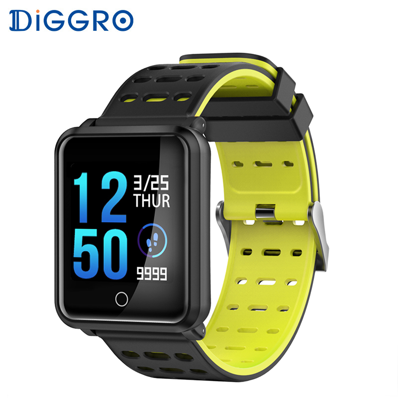 Diggro N88 Smart Watch Color Screen IP68 Waterproof Heart Rate Blood Pressure Monitor Replaceable Bracelet For Android IOS