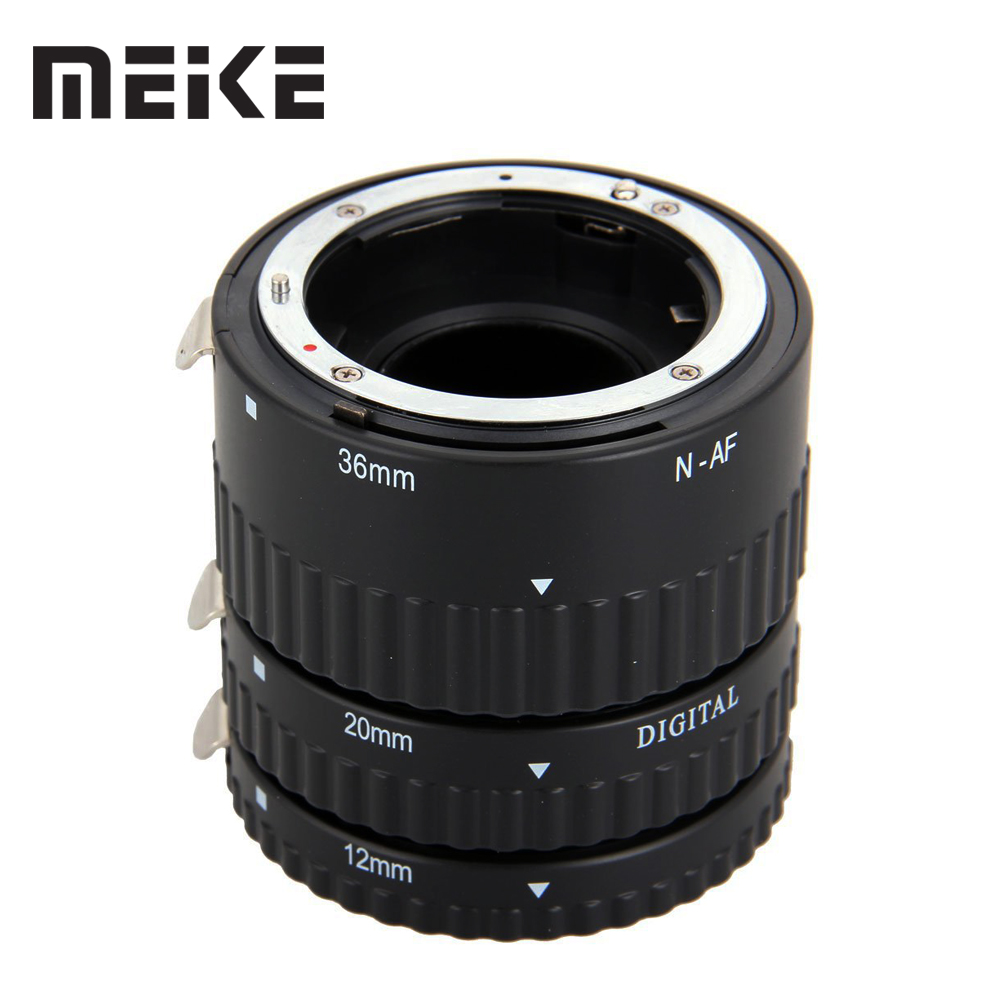 Meike Auto Focus Metal AF Macro Extension Tube Nikon D7100 үшін D7000 D5100 D5300 D3100 D800 D750 D600 D90 D80 DSLR камерасы