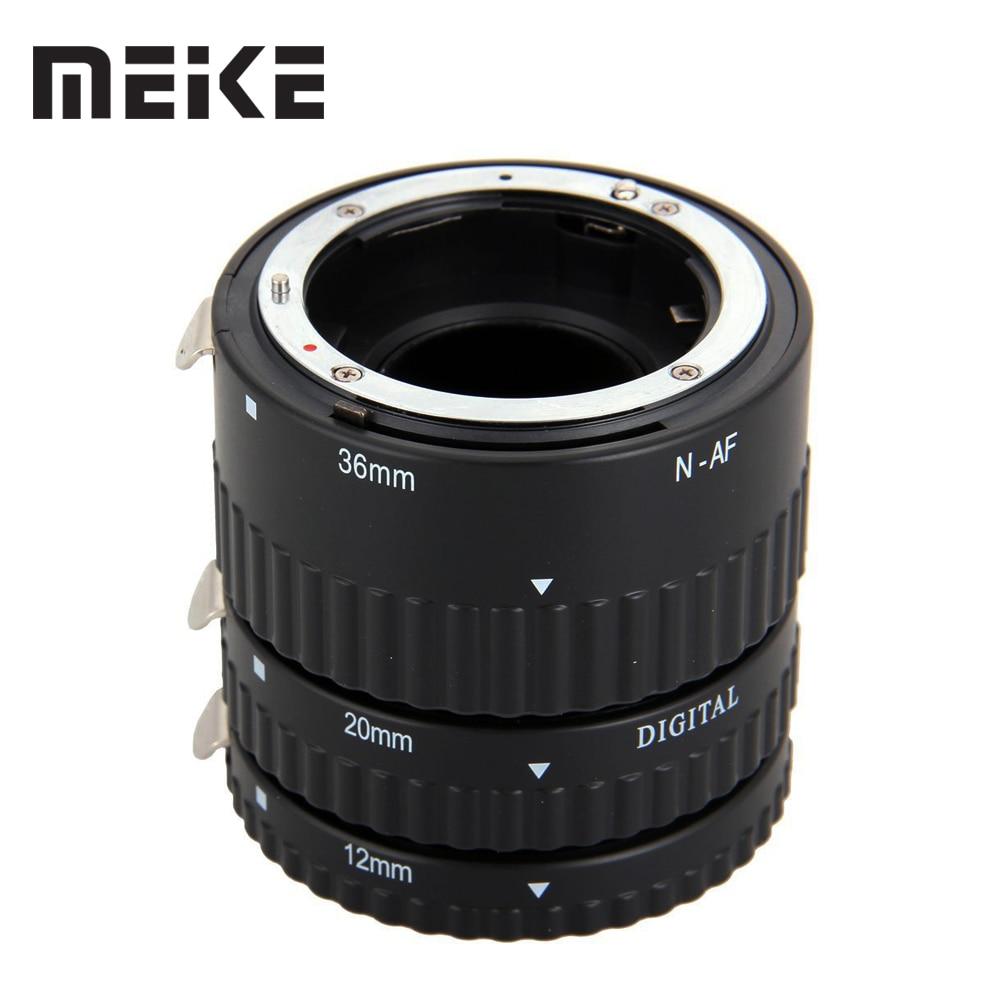 Meike Messa A Fuoco Automatica Metallo AF Macro Extension Tube per Nikon D7100 D7000 D5100 D5300 D3100 D800 D750 D600 D90 D80 DSLR Camera