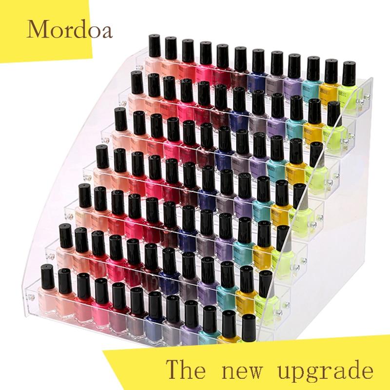 Mordoa Acrylic Makeup Box Nail Polish Storage Organizer 234567 Layer Rack Jewelry Display Stand