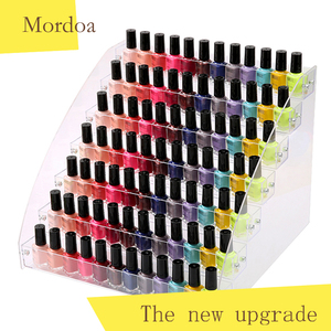Mordoa Acrylic Makeup box Nail Polish Storage Organizer 234567 Layer Rack jewelry Display Stand