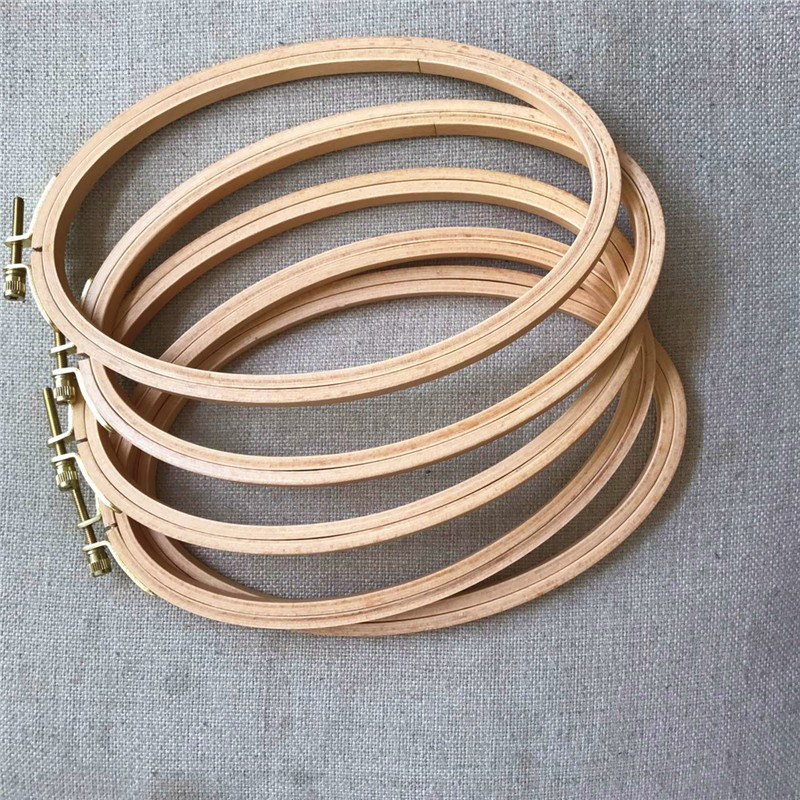 WRMHOM 10pcs/lot 21*13cm Ellipse Embroidery Hoop Oval Shape Wooden Frame Art Craft Embroidery Tool DIY Cross Stitch Hoop