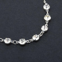 Stainless Steel Vintage Fashion Crystal Anklet Foot Jewelry