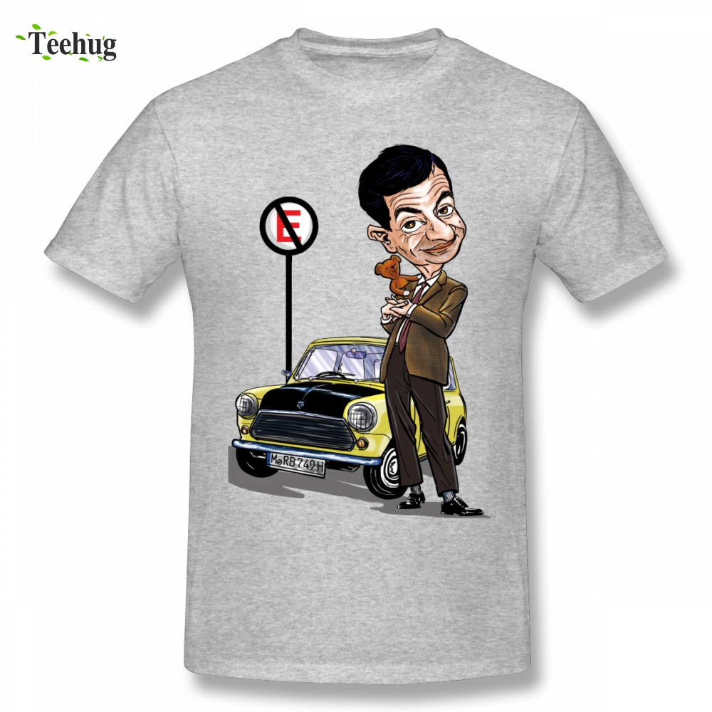 Mr Bean Tee Man Retro Mini Cooper Car Graphic Cotton   T     Shirt   For Male Funny Homme Tee   Shirt   Free Shipping