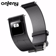 Onleny H1 20mm 22mm Watch Band Bluetooth 4.0 Smart Band Wristband 0.42″ OLED display Leather Watchband Straps for IOS Android