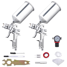 цена на 1.3/1.8mm Professional HVLP Air Spray Gun Paint Sprayer 1000ml Gravity Feed Airbrush Kit Car Furniture Painting Spraying Tool