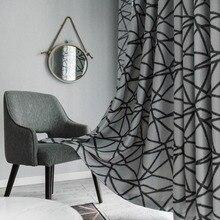 Topfinel neregulāras svītras siltumizolācijas aptumšošanas loga apstrāde biezas melnas aizkari dzīvojamā istabā guļamistabas dekoratīvs