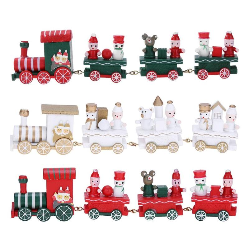Cute Wood Mini Train Ornament Christmas Xmas Home ...