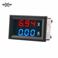 zc15400 dc amp gauge DC 100V 10A Voltmeter Ammeter Blue Red LED Amp Dual Digital Volt Meter Gauge ammeter