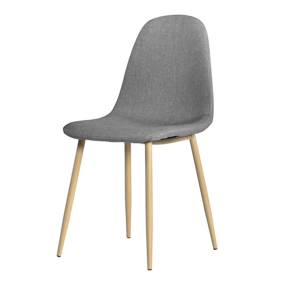4 pièces Style moderne Simple salle à manger chaises ensemble de 4 minimaliste moderne salle à manger chaises élégant salle à manger côté chaise gris-US Stock
