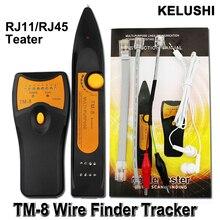 KELUSHI 2016 Newest RJ11 RJ45 Cat5 Cat6 Telephone Wire Tracker Toner Ethernet LAN Network Cable Tester
