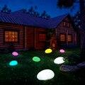 Solar Licht Lampen Cobble Stein Lampe Licht LED Solar Beleuchtung Fernbedienung Bunte Garten Dekoration Neue Schwimmbad Ball