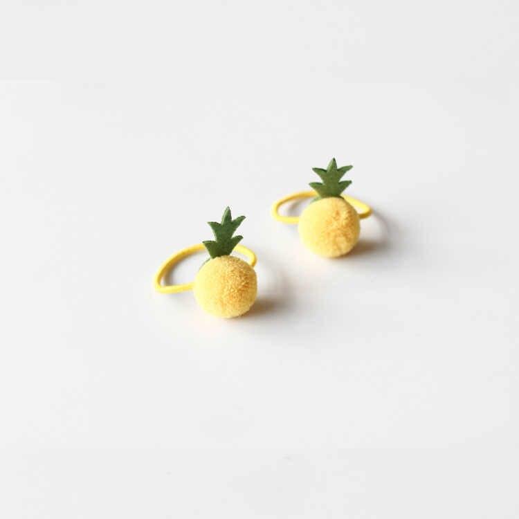 2 piezas nueva fruta encantadora princesa de piña diademas para niños bandas elásticas para el cabello tocado de bebé niños cuerdas para el cabello accesorios para niñas