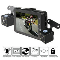 Fodsports 3 0 LCD Motorcycle DVR Video Recorder Dash Cam Moto Dual Lens Cameras With G