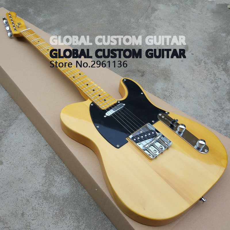 High quality tl guitar Custom Electric Guitar 6 Strings Guitars,yellow color,Real photos,free shipping human free shipping hot guitar electric guitar olp yellow white double shake guitar good quality beautiful