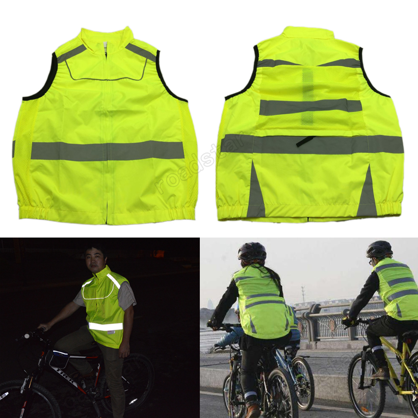 10 pieces Wholesale Express colorful reflective vest for cycling safety clothing 10 pieces wholesale express reflective elastic webbing belt high visibility heat transfer tape for sports