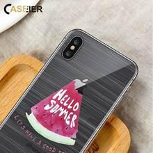 CASEIER Summer Fruit Emboss Phone Case For iPhone 7 8 Plus Soft TPU Silicone Cases X 6 6s 5s SE Funda Capinha