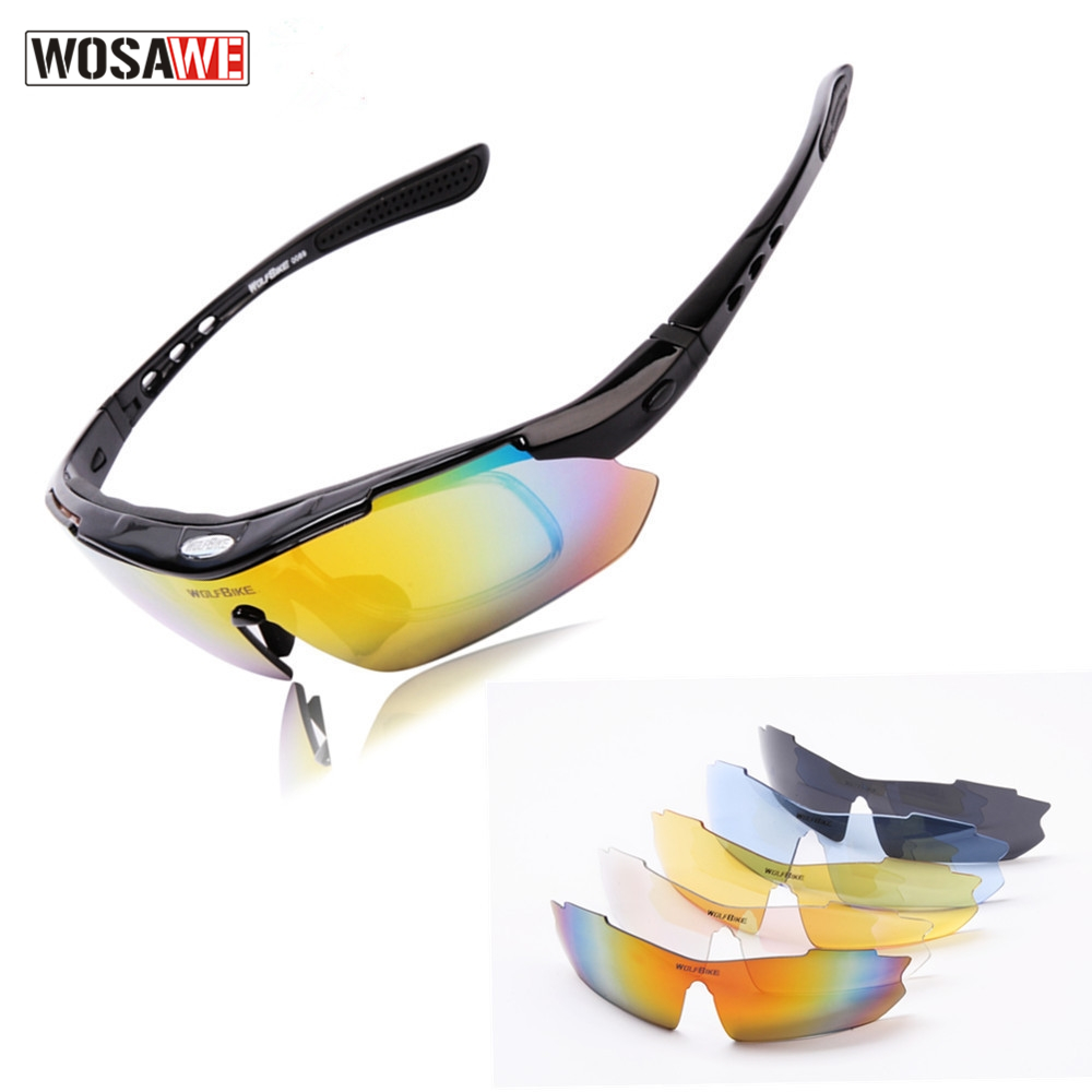 WOSAWE Professional Motocross Sports Protection Polarized Racing Sunglasses Motorcycle Goggles Outdoor Sports Motocross Glasses