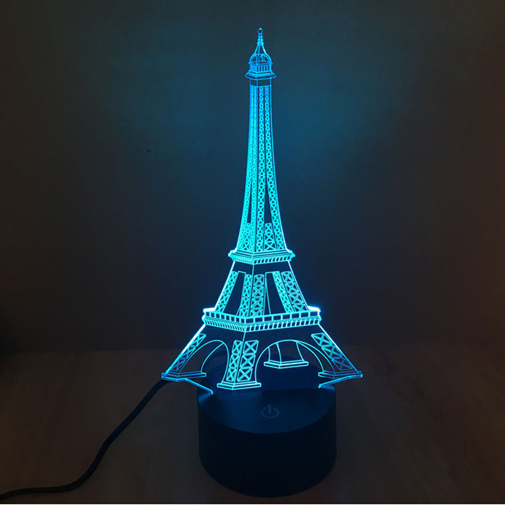 Aliexpress : Buy Creative 3d Illusion Lamp Led Night Light 3d Eiffel  Tower Acrylic Discoloration Colorful Atmosphere Table Lamp Novelty Lighting  From