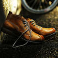OTTO 2015 High Quality Men's Casual Shoes Genuine Leather Full Grain Cow Leather Fur Boots