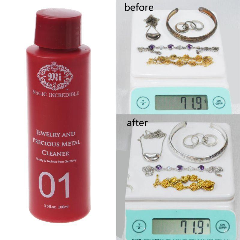 100ML Gem Jewelry Cleaner Anti-Tarnish Clean For Diamond Silver Gold Jewelry
