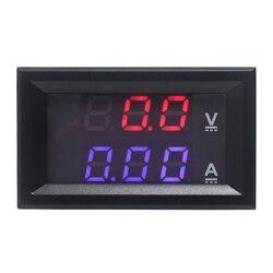 Цифровой Мини вольтметр, амперметр постоянного тока 100 в 10A 50A 100A Амперметр тестер тока 0,28 цифр синий красный двойной светодиодный дисплей