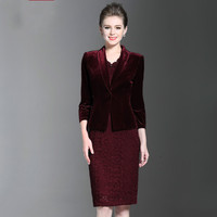 2017 Free Shipping High Quality Autumn Winter Fashion Women Work Wear Mid Old Age Women Clothing