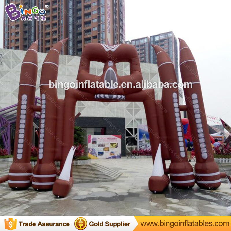 FACTORY OUTLET 5x6m inflatable ghost arch air loading brown archway balloon Halloweens theme personalized entrance decorationFACTORY OUTLET 5x6m inflatable ghost arch air loading brown archway balloon Halloweens theme personalized entrance decoration
