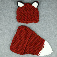 Novelty Children S Winter Hat Scarf Sets Handmade Crochet Warm Lovely Kids Hats Scarves For About