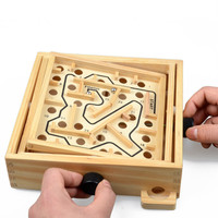 New Top Children/Adult Educational Toy Recreation Party Labyrinth Ability Developing Wooden Balance Board Maze Board Game 21108