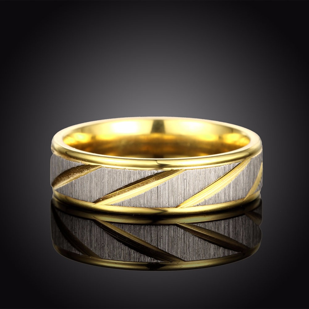Free shipping Titanium steel couple on the ring twill frosted narrow female models of the ring is not allergic to the deformatio
