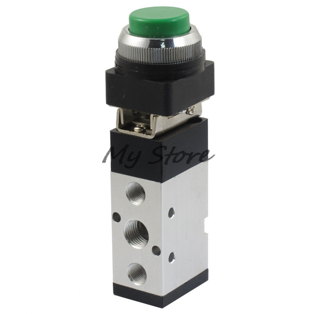 Pneumatic Valve Switch PT1/4 Air Inlet Five Way Two Position Momentary Mechanical Valve MV522PPL 2 position 5 way cylindrical mechanical air pneumatic valve tac2 4v