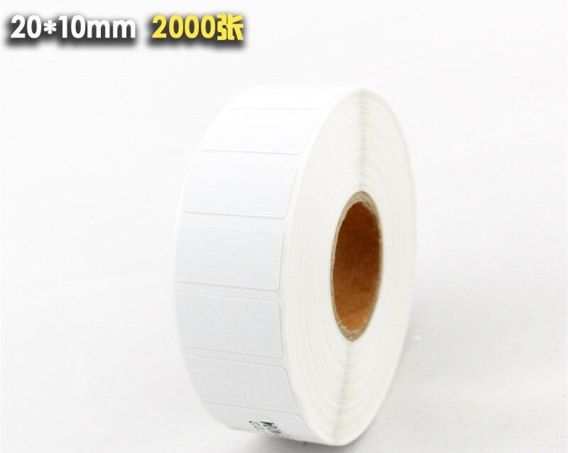24 Rollspos Thermische Label Papier 20x10mmthermal Drucker Thermische Etiketten Wasserdicht Barcode Leere Aufkleber Insgesamt 48000 Etiketten