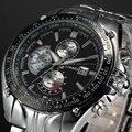 CURREN marca casual moda masculina pulseira de aço inoxidável relógio de quartzo relógios militares esportes relógios homens relogio masculino