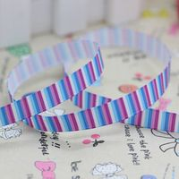 3/8'' Free shipping chevron stripe printed grosgrain ribbon hairbow party decoration diy wholesale OEM 9mm P2774