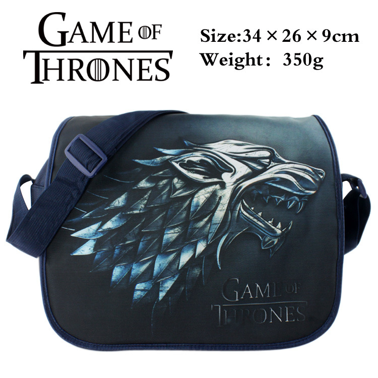 2018 Anime Game of Thrones Messenger Bag Cosplay Shoulder Travel Bag Canvas Handbag School Bags new game of thrones anime ice and fire backpack shoulder school bag package cosplay 45x32x13cm