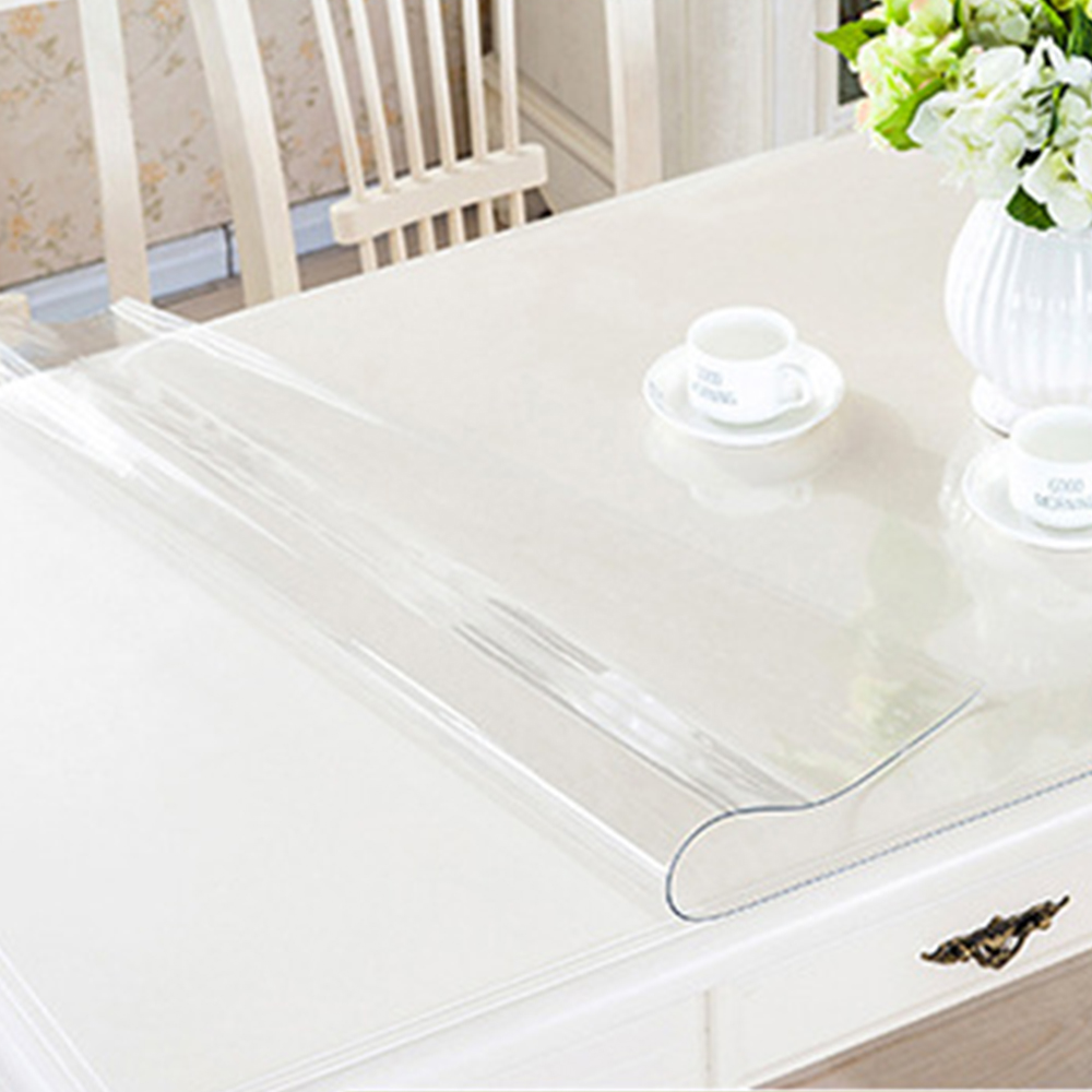 Clear dining table cover - Yazi Transparency Pvc Tablecloth Waterproof Oilproof Heat Insulation Table Cover Kitchen Dining Placemat Pad Thickness 1 0