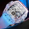 ONOLA Brand Transparent Plastic Watch Men Women clock 2019 Fashion Sports casual cool unique Quartz Luxury square Mens Watch