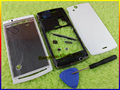 Original New Full housing cover case+Keypad Buttons+Tool For Sony Ericsson Xperia Arc S X12 LT15i LT18i LT18 LT15 WHITE