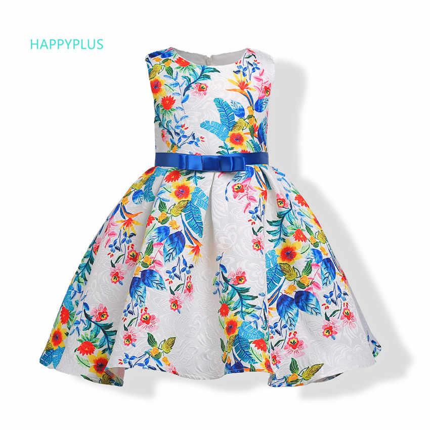e1a277a0541716d HAPPYPLUS платье с цветочным узором для девочек вечер карнавал летние платья  для девочек 2018 платье для