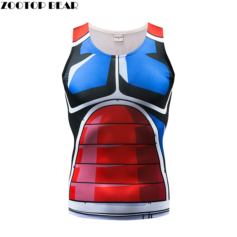 The dragon ball   Tank     Tops   Men Women Vest Naruto Male The dragon ball Z   Tops  &Tee Fitness Tight Bodybuilding Summer ZOOTOP BEAR