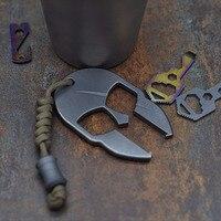 TC4 Titan Legierung Spartan Flasche Öffner EDC Werkzeug Tragbare Multi Werkzeuge Zubehör Keychain Outdoor Camping Key Ring Ausrüstung