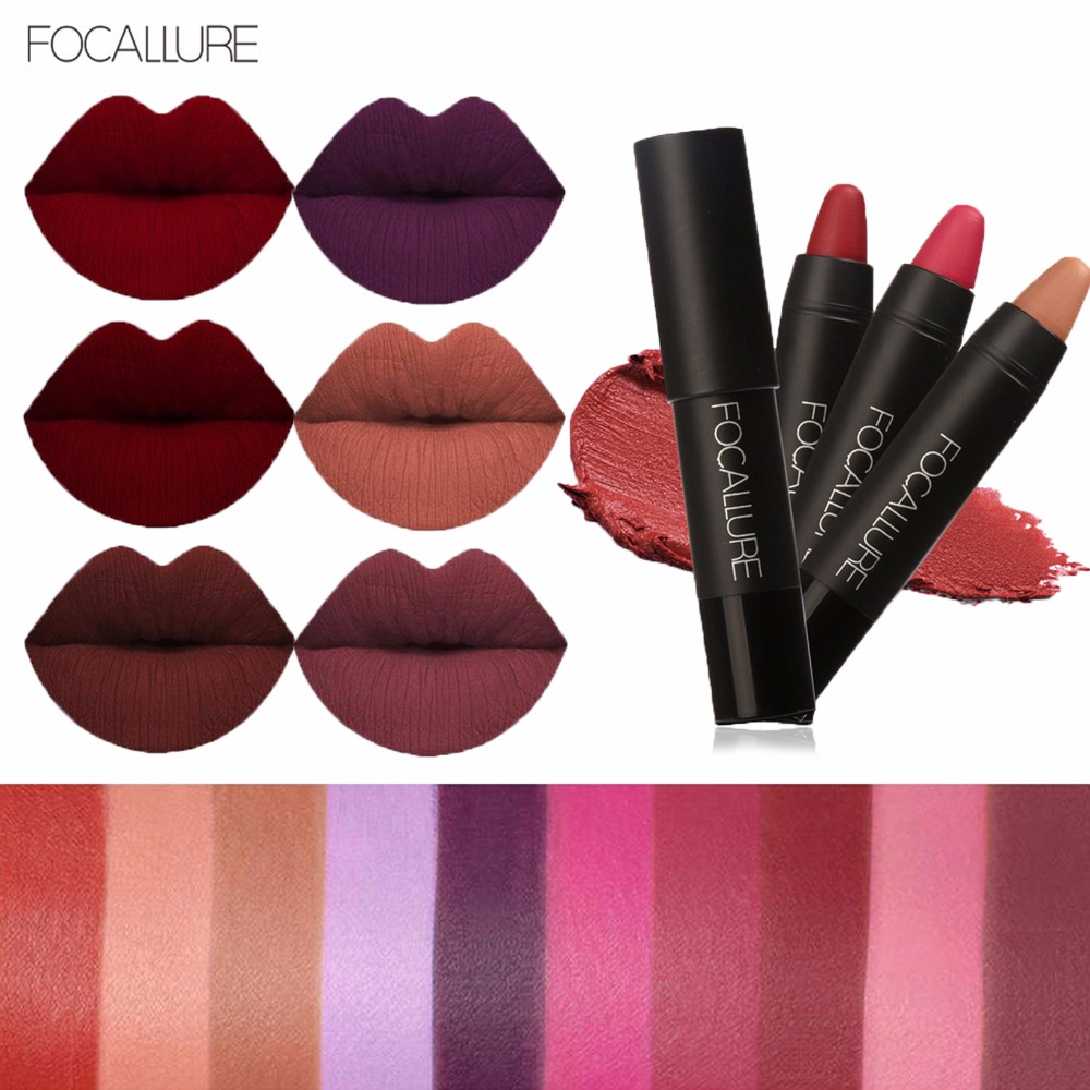 FOCALLURE New 19 Colors Matte Lipstick Lips Makeup ...