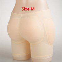 Size M A Set 570g Silicone Hip Butt Enhancer Pants Push Up Buttocks Pockets Panty Crossdressing Underwear Fake Hip Butt Briefs