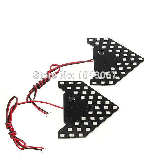 Авто 1x светодиодные задние фонари поворота-Лампа последовательного сигнала со стороны зеркало стрелки сигнала поворота гибкая противотуманная фара DRL стайлинга автомобилей