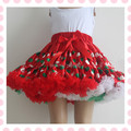 Baby Girls Tutu Skirt Christmas Kids Party Clothes Ruffle Christmas Children Girls Petti Tutu Skirt  Dancewear Fluffy Pettiskirt
