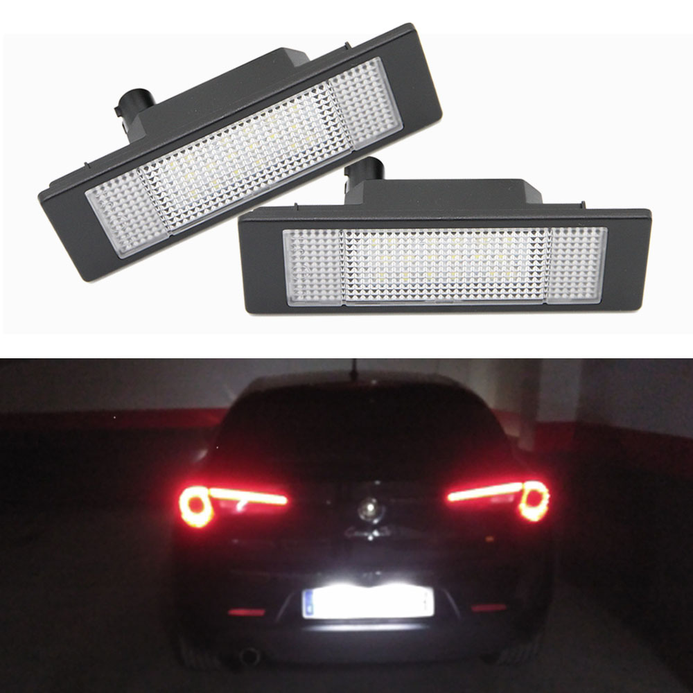 Us 9 0 10 Off Aliexpress 2pcs White Led For Alfa Romeo 156 159 166 Brera Gt License Plate Light Car Styling Tail Automotive