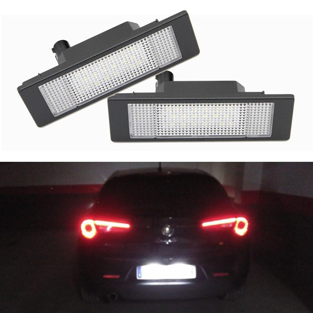 2x Alfa Romeo GT Bright Xenon White Superlux LED Number Plate Light Bulbs