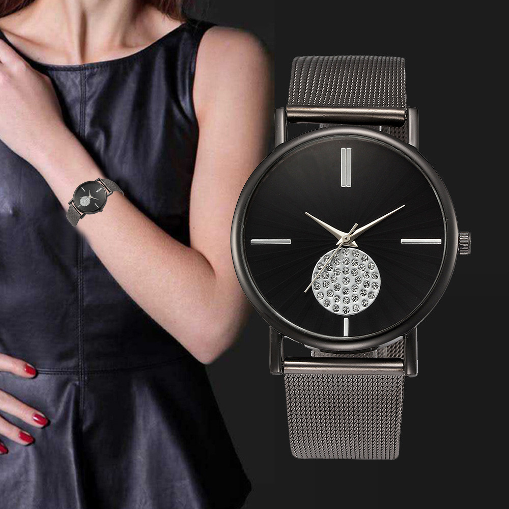 Women Luxury Stainless Steel Wrist Watch Women Lady Large Dial Analog Quartz Watches Reloj Relogio Top Brand Dropshipping 5h mymei women luxury bracelet watch stainless steel analog quartz wrist watches
